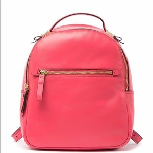 Cole Haan Tali Small Leather Backpack Teaberry NWT